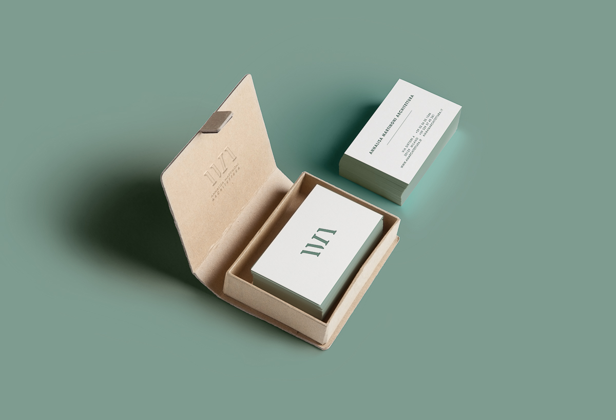 Embossed cotton paper business cards « Chiara Ferrario