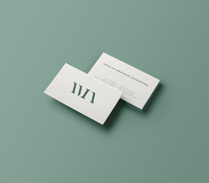 Embossed cotton paper business cards chiara ferrario the soft and rich texture of these cards is a great introduction to this architecture firm specialized in interior design reheart Choice Image